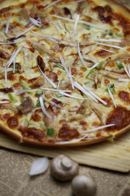 法兰克福熏鸡披萨
