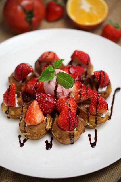 草莓果园华夫
