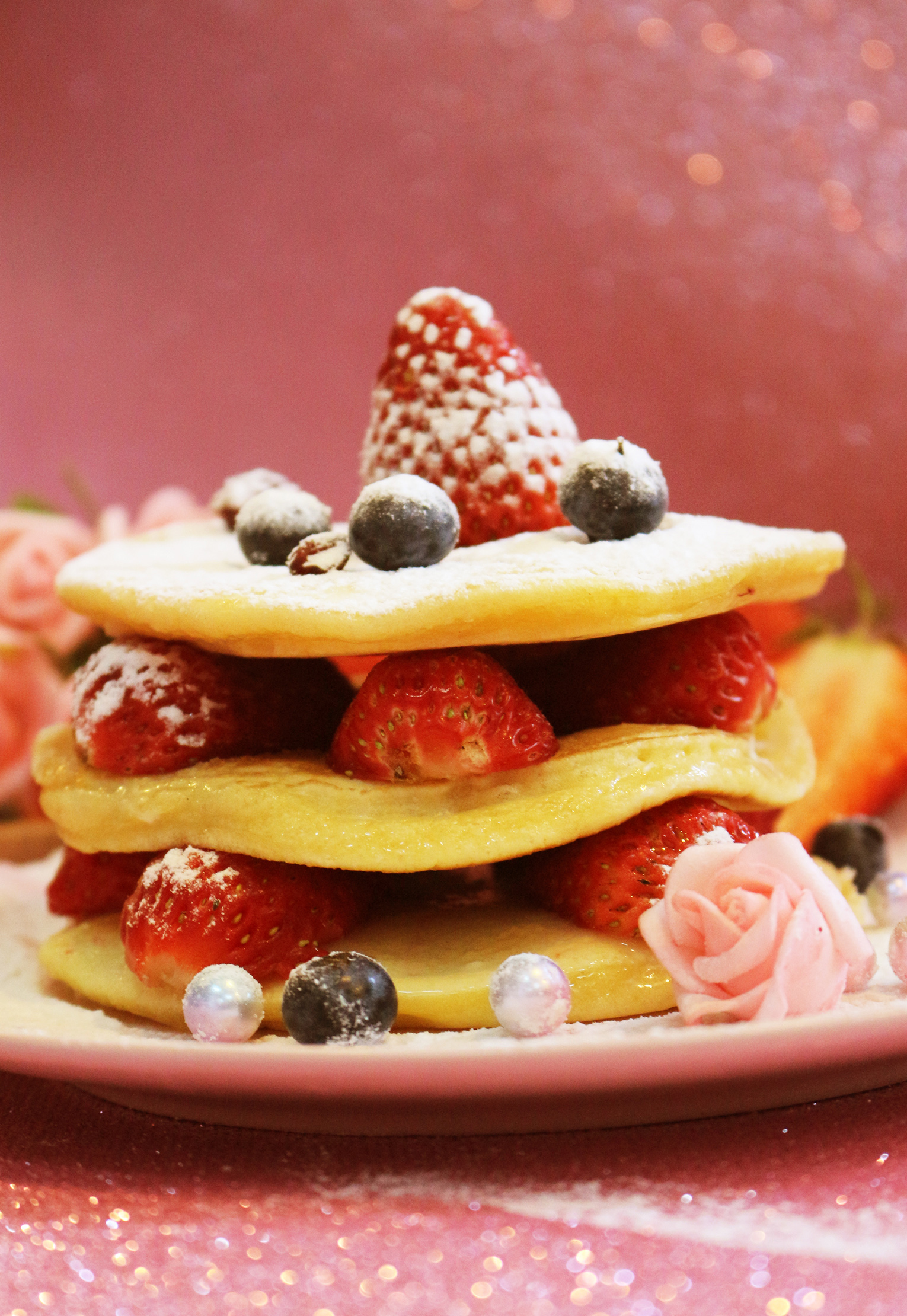 双莓松饼塔