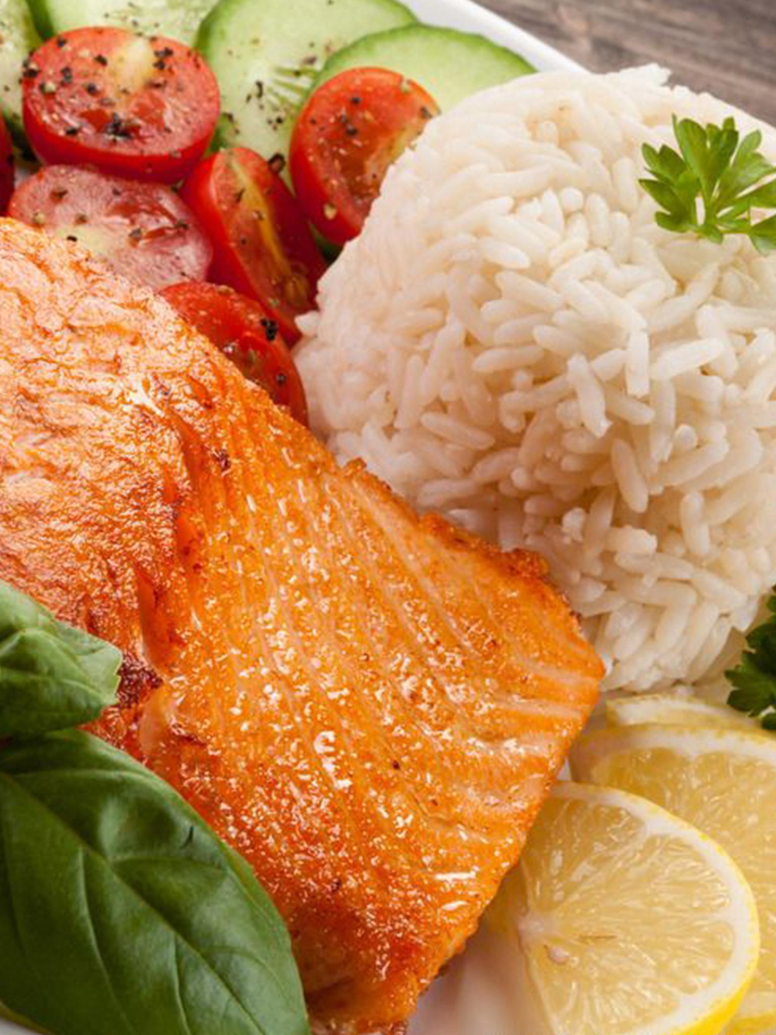 盐煎三文鱼饭